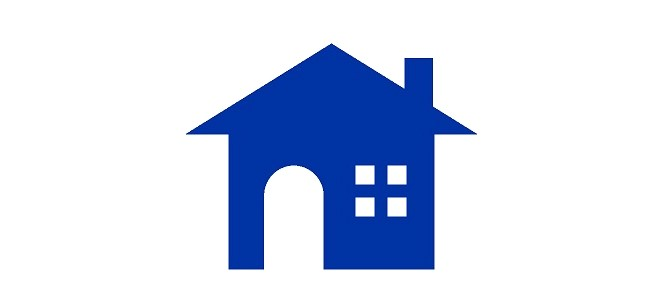 Blue icon of a building indicating home, condo, or renters insurance