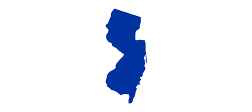Blue icon of the State of New Jersey
