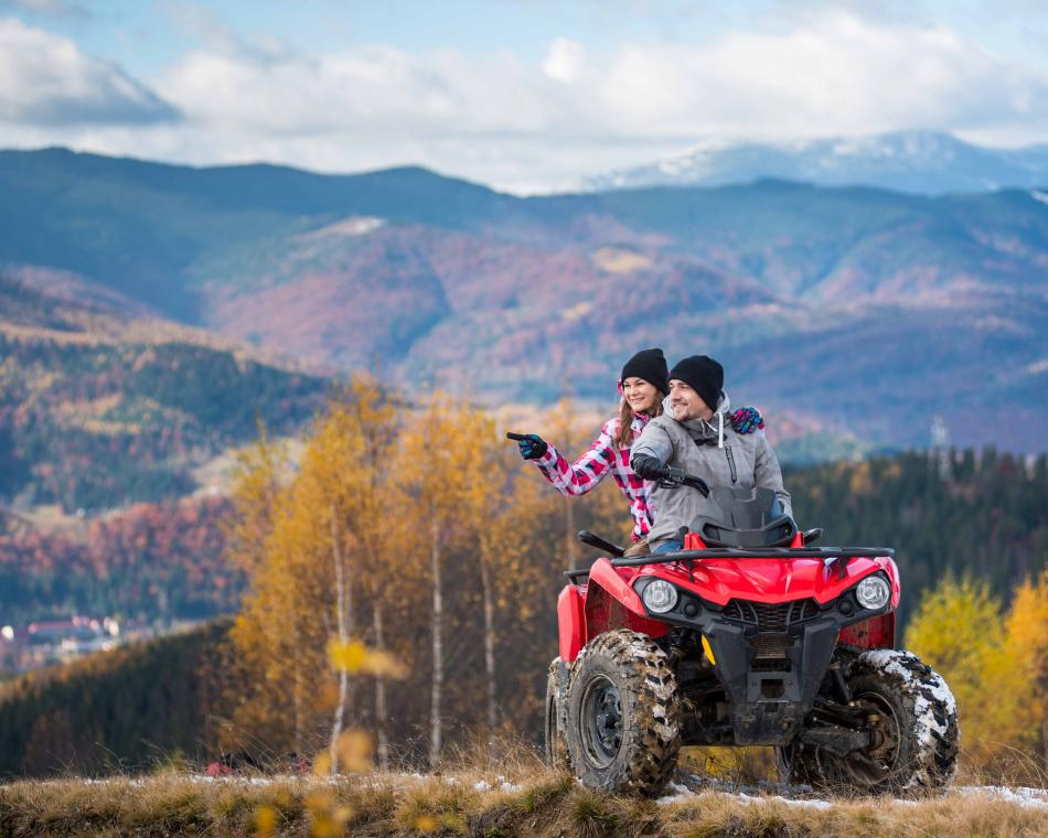 Couple enjoying their ATV insurance coverage