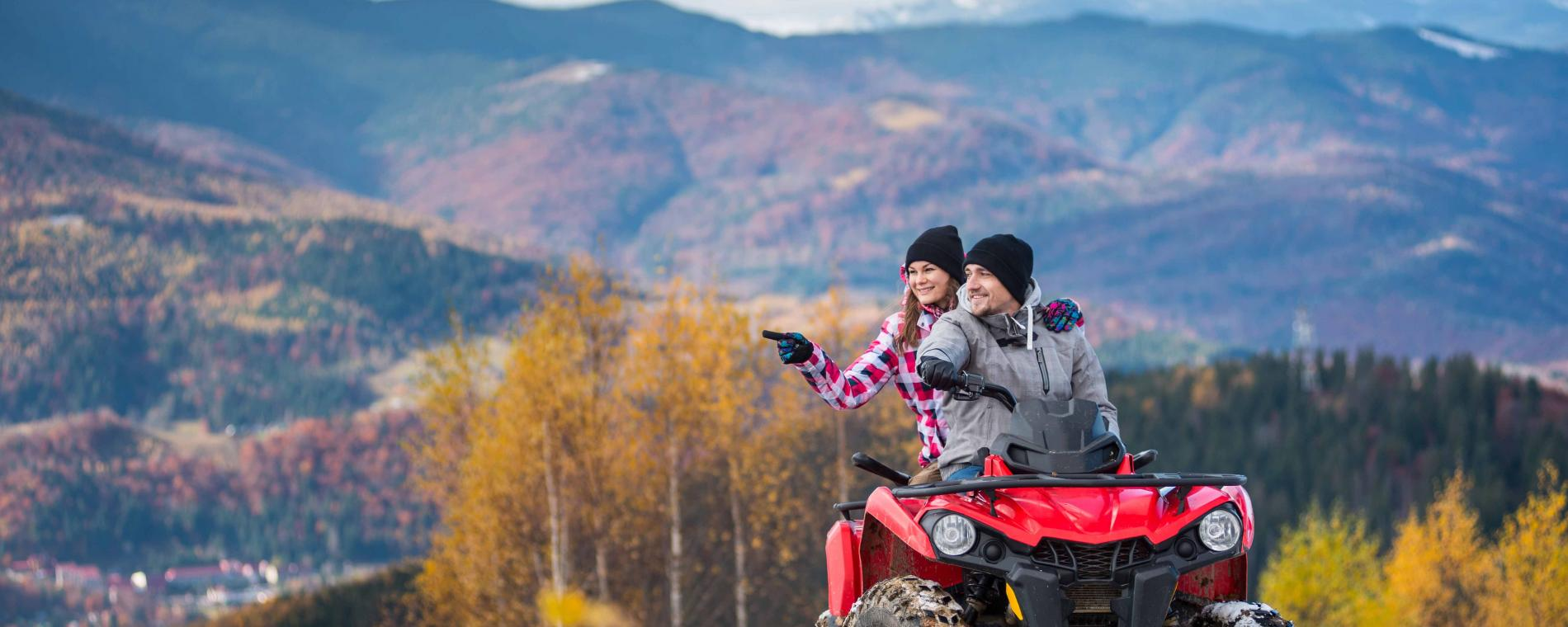 Coverage for four-wheeler fun on an outdoor vacation