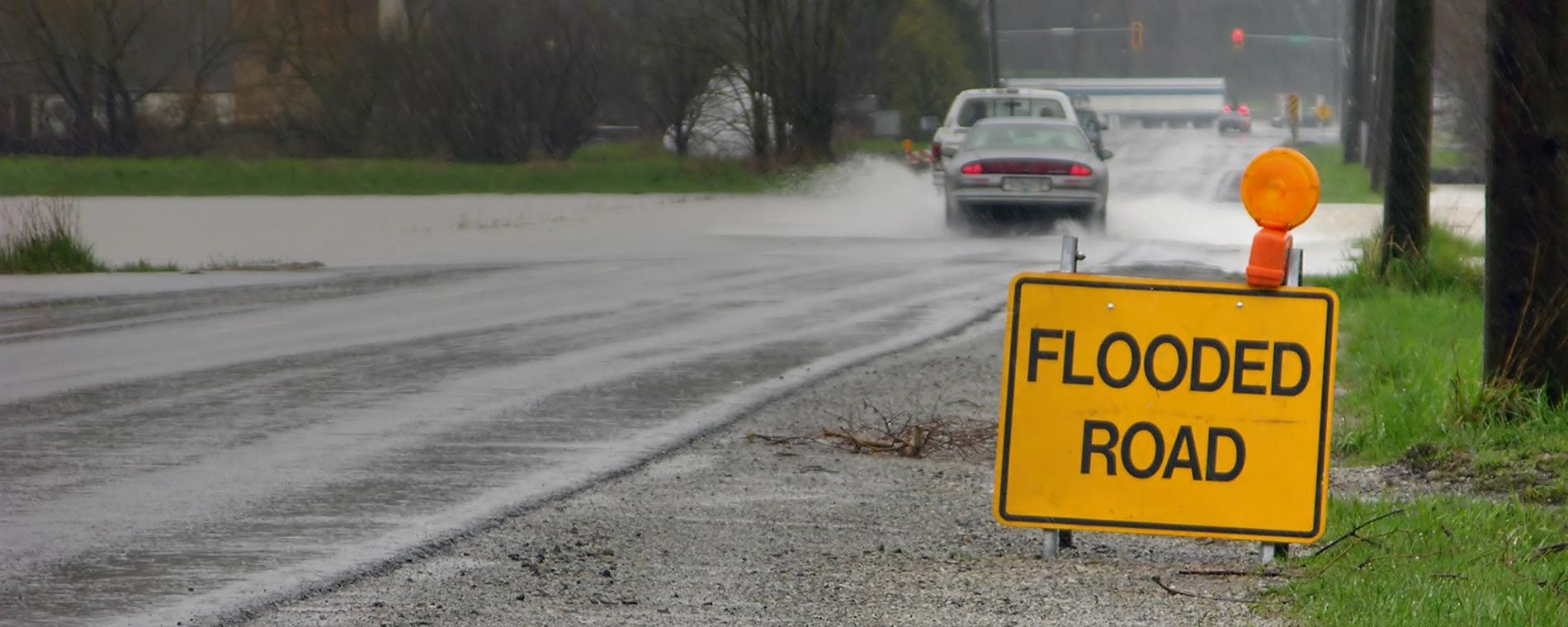 Stay off of flooded roads whenever possible