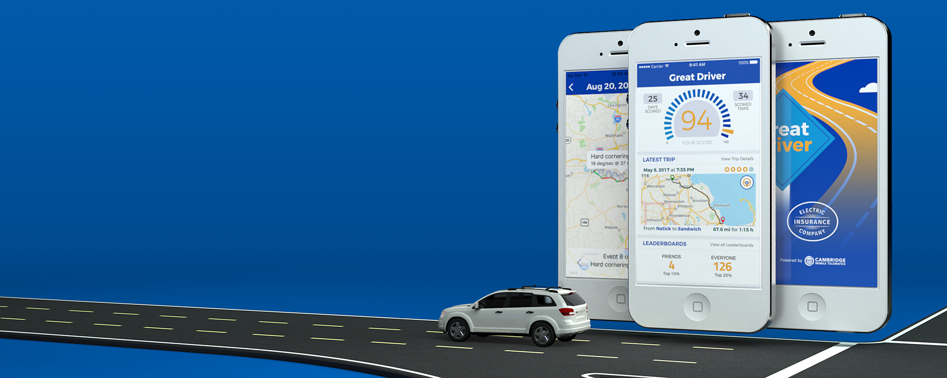 Save 5% -10% on your car insurance with the Great Driver app