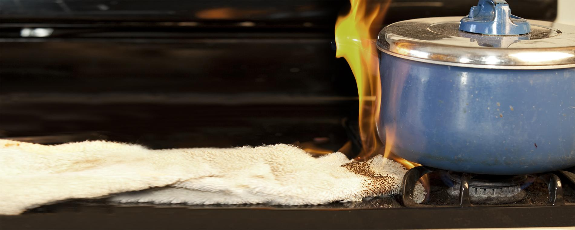 Keep flammable items away from stove tops